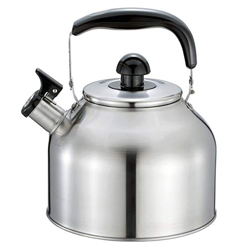 Hervidor HMLIFE 3.7L Whistling Gas Kettle 304 Acero Inoxidable Hogar Espesar Gas de Alta Capacidad Cocina de Inducción Restaurante Caldera