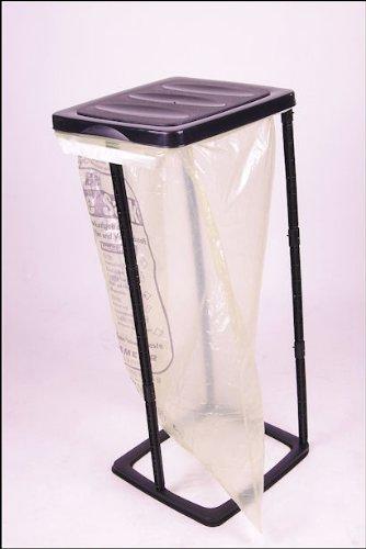 Unbekannt Müllsackständer 60 Liter schwarz - Ideal für gelbe Säcke!