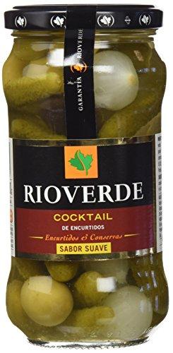 Rioverde - Cocktail de encurtidos - Sabor suave - 345 g - [Pack de 6]