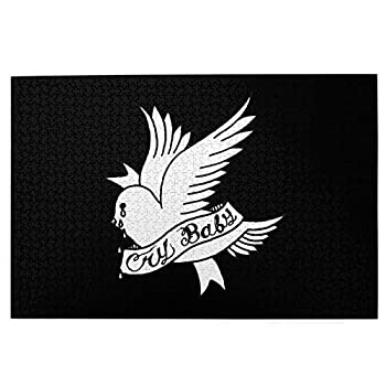 Lil Peep Cry Baby Bird Tattoo Official Design Wooden Jigsaw Puzzles 1000 Piece Brain Fun Family Games for Adults Couples Child Teens Senior