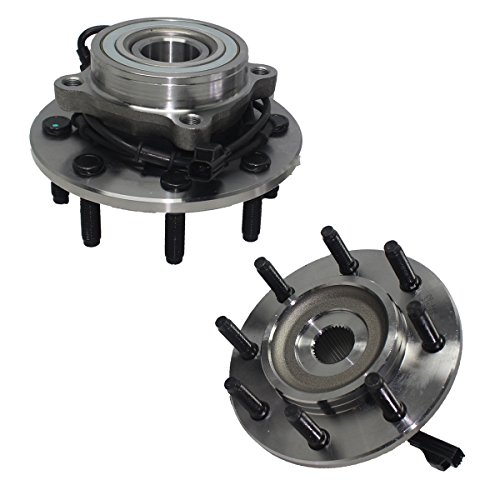 Detroit Axle 515061 2 Front Wheel Hub and Bearing Assembly Driver & Passenger Side 4x4 Only 8-LUG ABS For Dodge Ram 2500 3500 2003 2004 2005