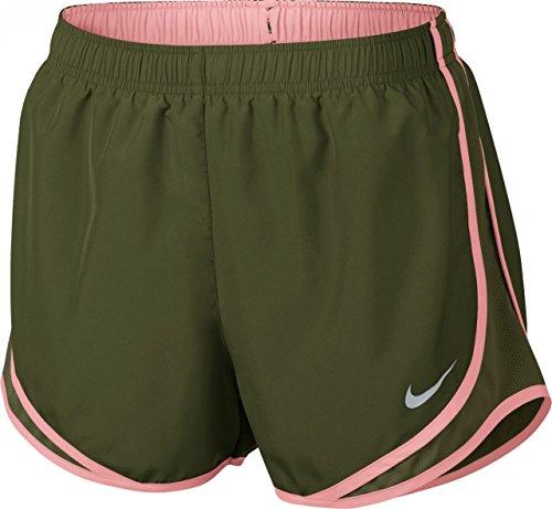 Nike W NK Dry Tempo Pantaloni Corti, Donna, Donna, W Nk Dry Tempo, Nero (Nero/Bianco/Rosso (Sport Red)/Grigio (Wolf Grey)), XS