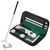 Kit de Golf, Putter de Golf para Oficina, 2 Pelotas de Golf, Muy úTiles en su Oficina, Casa, Viaje de Negocios, Etc.