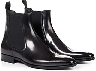 The Royale Peacock Black Leather Formal Chelsea Boot Shoes for Men