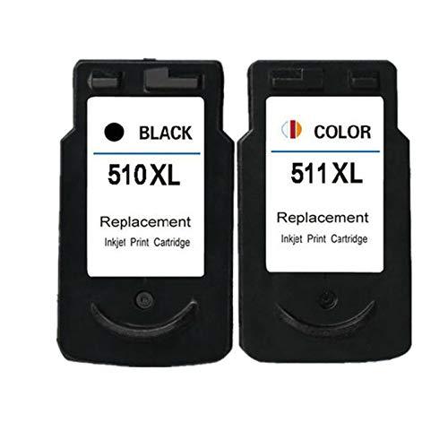 Cartuchos de tinta compatibles de repuesto adecuados para impresoras Canon MP230, MP240, MP250, MP252, MP252, 1 juego