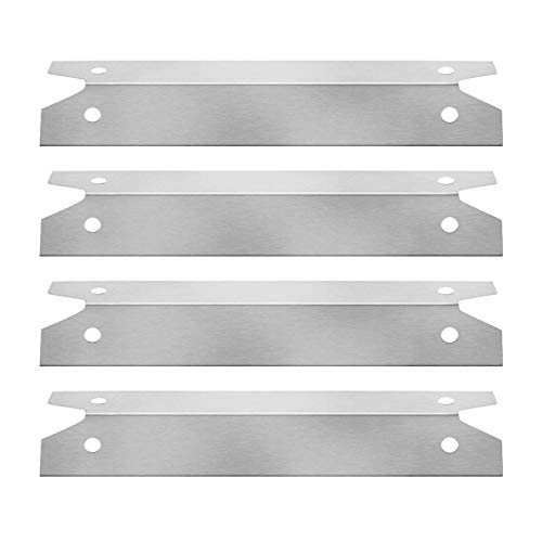 BBQ funland SH7311 (4-Pack) Stainless Steel Heat Shield Tent Deflector for Charmglow, Brinkmann Models Grills, 16 3/4 inch BBQ Burner Cover Flame Tamer