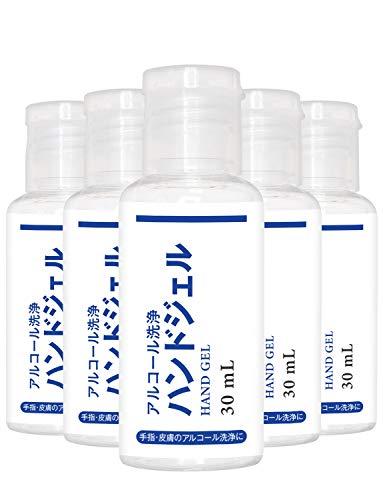 武内製薬 アルコール洗浄 5本セット ジェル 手指用 エタノール アルコール