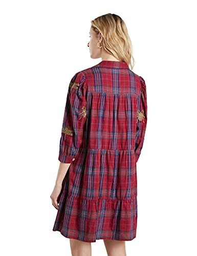 Desigual Vest_Dora MAAR Vestido Casual, Rojo, S para Mujer