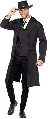Mens Western Marshall Wild West Bounty Hunter Tarrantino TV Book Film Fancy Dress Costume Outfit M L XL (Large)