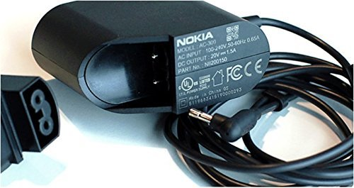Price comparison product image Nokia AC-300 - Nokia Lumia 2520 Tablet US AC Power Adapter Home Wall Travel Charger / Wall Charge Adapter