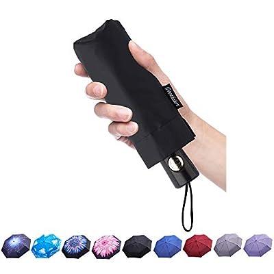 Goothdurs Automatic Mini Travel Windproof Umbrella Compact Auto Open/Close Small Lightweight Folding Rain Umbrellas for Women Men Kids