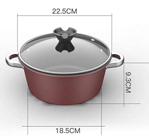 Kochtopf 24Cm Thick Non-Stick Pot Suppentopf Hot Pot Cooker Cooker Gasherd Universal, Gasverbrauch Huangwei7210 (Color : Gas Use)