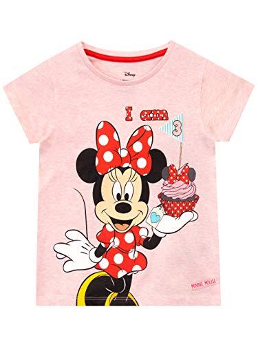 Disney Camiseta para Niñas Minnie Mouse Rosa 2-3 años