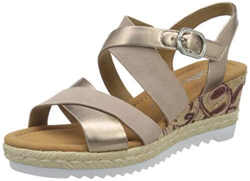 Gabor Shoes Comfort Sport, Sandalia con Pulsera para Mujer, Multicolor (Rame/Paprika/Rosa(Kfl/Ju) 23), 35.5 EU