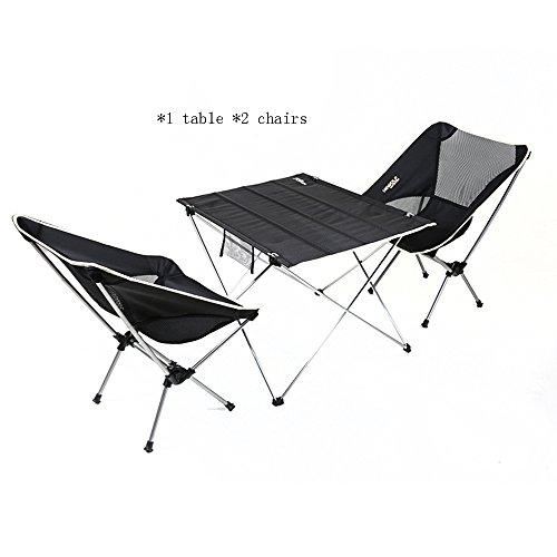 ZXQZ zhuozi Tableau et Chaise en Aluminium Ultra-légers de Tableau Pliant Tableau et Chaise combinés Noirs de Tableau Bureau Pliant (Taille : 56 * 38cm)