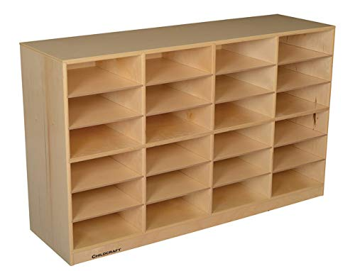 Childcraft Mobile 24 Flat-Tray Capacity Cubby, 47-3/4 x 14-1/4 x 30 Inches