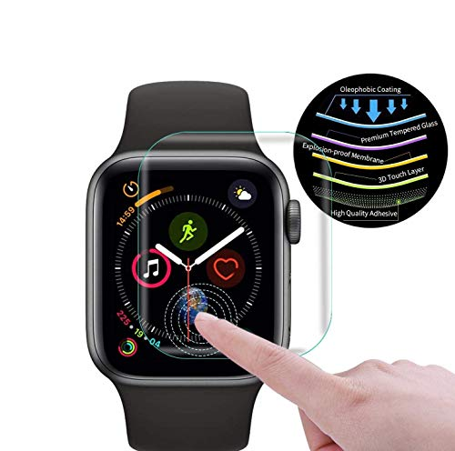 Rekri Apple Watch Series 5 LOCA technology UV 3D Curved Tempered Glass Protector : 40MM