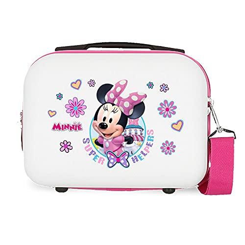 Minnie Super Helpers Neceser Adaptable con Bandolera Blanco 29x21x15 cms Rígido ABS 9,14L