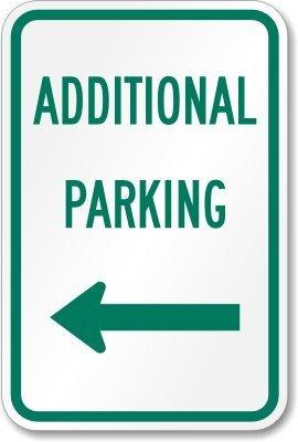 syybgnk46adicional señal de prohibido aparcar (flecha izquierda), 18cm de alto x 12cm de ancho