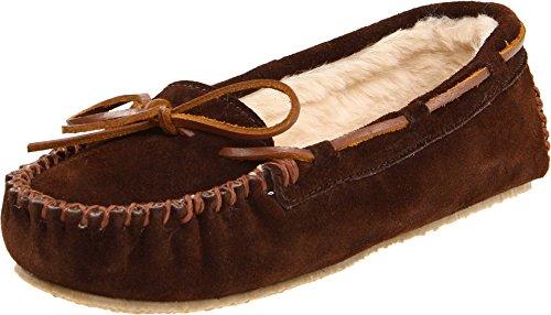 Minnetonka Women's Cally Faux Fur Chocolate Slipper 10.5 M US