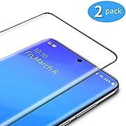 TAMOWA Verre Trempé pour Samsung Galaxy S20 Plus (2 pièces), 3D Couverture Complète Film Protection Ecran, Verre Trempé écran Protecteur pour Samsung Galaxy S20 Plus, Dureté 9H, Noir