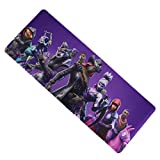 FzAqua Extended Gaming Mouse Pad-Rubber Base with Anti-Fray Cloth Speed Soft Gamer Mouse Pad 31.5Lx11.8Wx0.12H (BL-Pu)