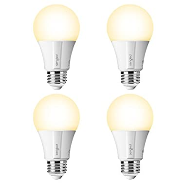 Sengled Element Classic Smart LED Light Bulb (Hub Required), A19 Dimmable LED Light Soft White 2700K 60W Equivalent, Works with Alexa/Echo Plus/SmartThings / Google Assistant, 4 Pack