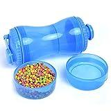 QINX Botella de agua portátil para mascotas, para entrenamiento al aire libre, de polipropileno, dispensador de agua para perros grandes, mascotas, accesorios