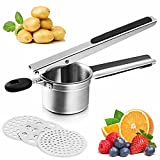 PARADIZM Potato Ricer Stainless Steel,Extra-Large top Stainless Steel Potato Rice,Rice milling Kitchen Tool with Long Non-Slip Handle, It can be use on Carrots,yams and All Sorts of Root Crops.