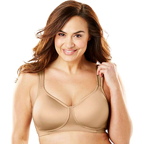 Comfort Choice Women's Plus Size Microfiber Wireless T-Shirt Bra - 50 C, Nude