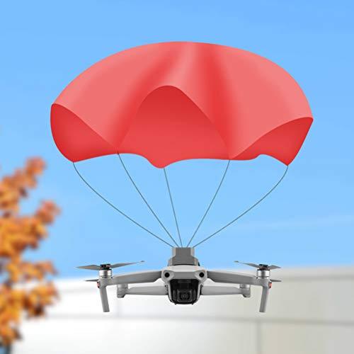 Zhangpu Accesorios para Drones, Paracaídas Drone Compatible con dji Mavic Air 2, Paraguas De Vuelo Ligero para Drones, Incluido con Hook Y Cierre De Bucle,fácil De Instalar