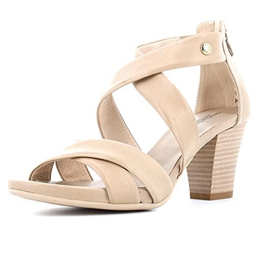 Sandalo da Donna NeroGiardini in Pelle Sabbia E012220D. Scarpa dal Design Raffinato. Collezione Primavera Estate 2020. EU 39