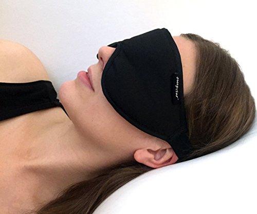 Stellar Deluxe Schlafmaske - 100{287bfbd7fd8be2564984006f165c75d2a642f367884c86f23c6da45a7f94ccaa} lichtundurchlässig, hoher Tragekomfort, ideal für Zuhause und unterwegs - Zertifiziert nach Öko-Tex Standard 100