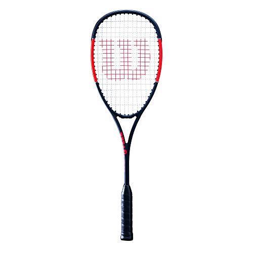 Wilson Squash-Schläger, Pro Staff CV, Unisex, Kopflastige Balance, Schwarz/Rot, WRT916130