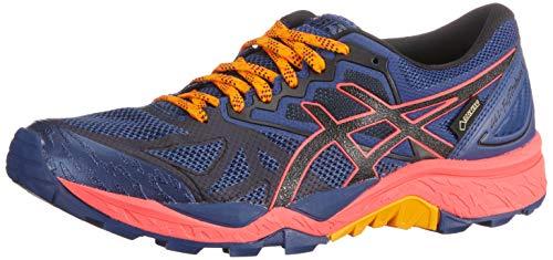 Asics Traillaufschuh Gel-Fujitrabuco 6 G-TX, Zapatillas de Running para Asfalto Mujer, Azul (Blue Print/Black 400), 38 EU