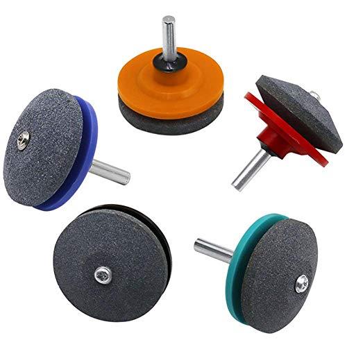 WENTS Afilador de Cortacésped 5PCS Afilador de Cuchillas Multiusos para Moler Cuchillas de Césped, Cuchillas de Perforación, Cortadoras de Césped, etc