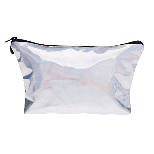 Fringoo Make Up Bag Travel Pouch Organiser Bag Pencil Pen Case Leather L23 X H14 X W8 Cm Holographic by Fringoo