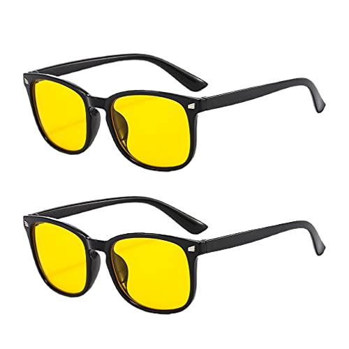 EXCEART 2 Pares Azul Bloqueando a Luz Óculos Anti Fadiga Ocular Leituras Óculos Jogos Blu- Ray Computador Filtro/Gaming/TV Óculos para Meninos Das Meninas (Cores Sortidas)