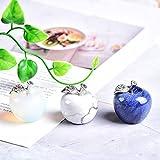LVYAN 1 Pieza de Cristal Natural, Piedra de Cuarzo Colorida, Manzana, Oficina, Dormitorio, decoración del hogar, día de San Valentín, Regalo DIY