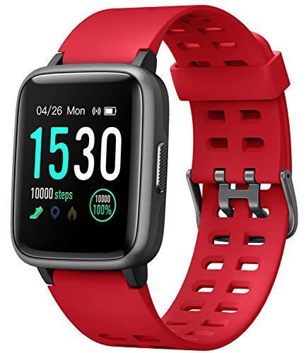 スマートウォッチ 腕時計 YAMAY 最新 歩数計 活動量計 ストップウォッチ IP68防水 最長連続7日間使用可能 画面の明るさ調節 着信電話/Line/Twitter/SMS/アプリ通知 座り立ち注意 日本語アプリ iphone&Android 対応