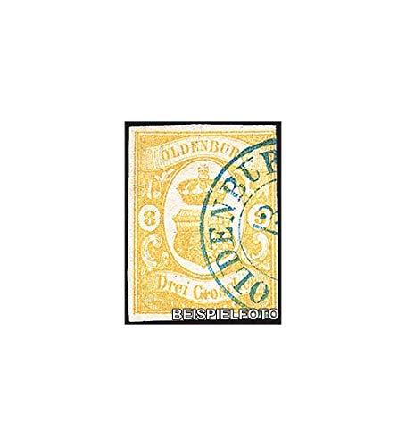 Goldhahn Oldenburg Nr. 14 gestempelt Briefmarken für Sammler