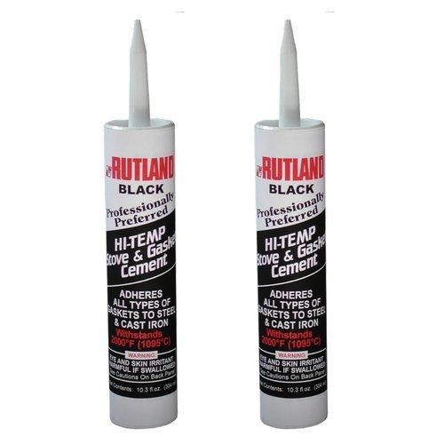 Rutland Stove Gasket Cement Black 10.3 Oz Cartridge (2 Pack)