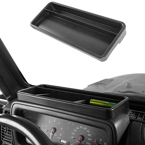Hooke Road Front Dashboard Tray Storage Box Container Organizer for Jeep Wrangler TJ 1997-2006