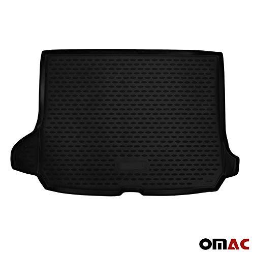 OMAC GmbH Auto Kofferraummatte Laderaumwanne Kofferraumshutz für Q2 2016-2020 3D Passform Hoher Rand Antirutschmatte Gummi Matte Kofferraumwanne schwarz
