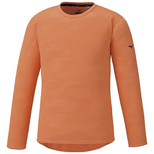 [Mizuno] トレーニングウェア ソーラーカットロングスリーブシャツ 半袖 吸汗速乾 紫外線 32MA0042 メンズ シャーベットオレンジ 日本 2XL (日本サイズ3L相当)