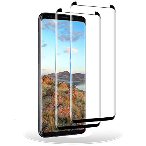 RIIMUHIR Verre Trempé pour Samsung Galaxy S9 Plus, [2 Pièces] Film Protection pour Samsung Galaxy S9 Plus, Protecteur D'écran, 3D Full Coverage, Dureté 9H, Sans Bulles, Ultra Transparent