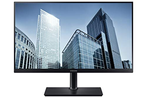Samsung SH850 Series 24 inch QHD 2560x1440 Desktop Monitor for Business (in Black) with USB-C, HDMI, DisplayPort, 3-Year Warranty , TAA (S24H850QFN)