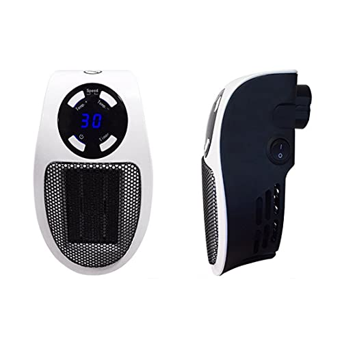 BiaBai Mini calentador de aire eléctrico con salida de pared de 110-220 V, potente ventilador cálido, calentador rápido, estufa, radiador, calentador de habitación