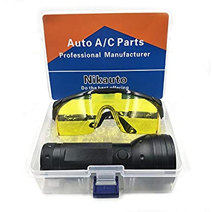 Nikauto UV Flashlight Black Light 51 LED Flashlight and UV Protective Glasses Goggles detector tool for Detecting pet Cat Dog Urine Repairing car Checking money 4