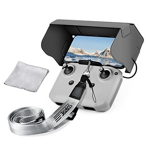Vokida Sunshade Lanyard Zubehör für DJI Mavic Mini 2 Air 2 Drohnen Fernbedienung Hakenadapter Sonnenschutz Sonnenblende für 4,4-7,1 Zoll Mobiltelefon Bildschirm Putztuch